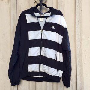 Vintage Adidas Color Block Zip Up Windbreaker
